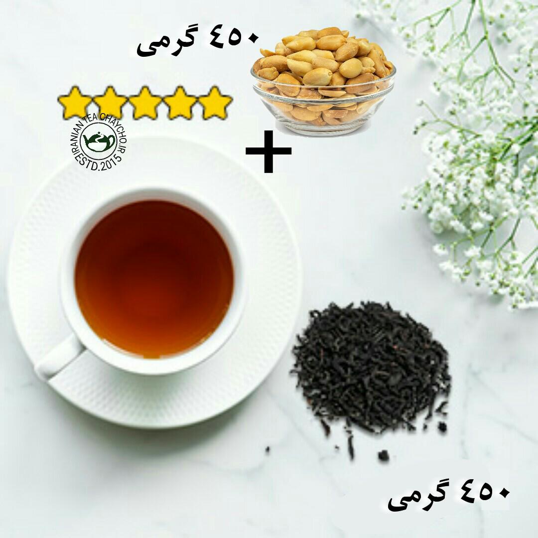 چای سرگل بهاره فومنات + بادام زمینی آستانه